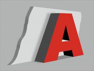 Объемные несветовые буквы. Наружная реклама РПГ Альтус