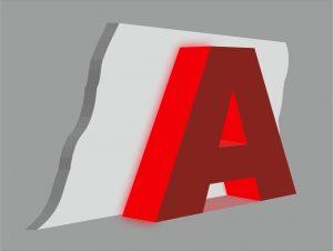 Объёмные буквы со световыми торцами. Наружная реклама РПГ Альтус