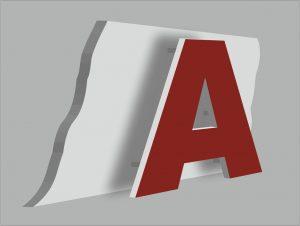 Псевдообъёмные буквы. Наружная реклама РПГ Альтус