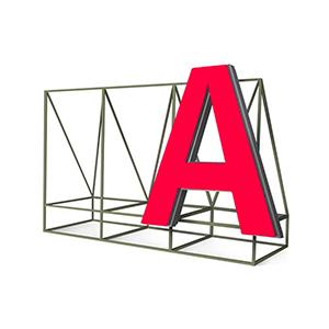 Эскиз крышной установки. Изготовление вывесок РПГ Альтус Екатеринбург